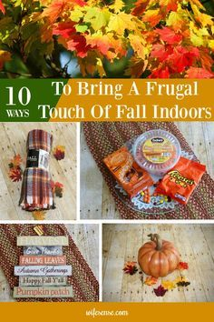 A frugal touch of fall is all you need to give your home the feel of the season. #fall #frugal #decorate #wifesense