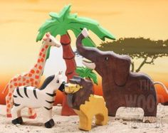 BIG SET Animal toys Forest animals 9pcs by WoodenCaterpillar