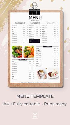 Menu template   Шаблон меню Menu Online, Restaurant Menu Design, Cocktail Menu, Graphic Design Templates, Lunch Menu, Menu Template, Fun Cocktails, Business, Food