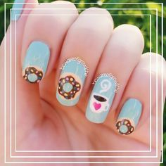 Coffee and donuts nails