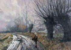 Jerzy Duda-Gracz(Polish, Ballada g-moll Ballade in G minor Landscape Art, Landscape Paintings, Modern Art, Contemporary Art, Wildlife Art, Beautiful Landscapes, Impressionism, All Art, Art History