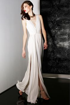 Jason Wu. Would love to see this white draped gown worn in modern Greek goddess fashion.