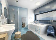 Dětská koupelna | AŤÁK DESIGN Alcove, Bathtub, Bathroom, Design, Standing Bath, Washroom, Bathtubs, Bath Tube, Full Bath