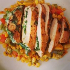 Our Cafe has new Fit Meals!  Try this Pepperjack Chicken w/ Fresh Succotash- just 462 calories!  Buy 9 Fit meals, and you will get the 10th free.  View all of our Fit meals here- http://www.lambsfarm.org/new-healthy-menu-at-magnolia-cafe/