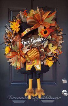 Thanksgiving turkey bottom wreath Give Thanks fall decor Thanksgiving Wreaths, Thanksgiving Turkey, Thanksgiving Decorations, Halloween Decorations, Deco Mesh Wreaths, Fall Wreaths, Wreath Crafts, Wreath Ideas, Turkey Wreath