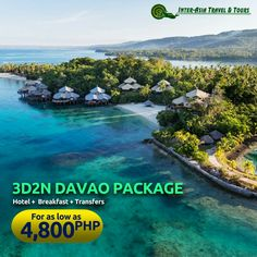 3D/2N DAVAO PACKAGE Visit our website at www.interasiatravelandtours.com for details, more packages, other destinations and promotions. #InterAsiaTravelandTours