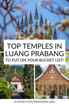 18 of the most incredible Luang Prabang temples in the UNESCO city of Laos. 2021 Guide updated to include the latest travel information – plus a handy temple map! #Laos #LuangPrabang #LaosTravel #LuangPrabangTemples #TemplesInLuangPrabang #ALWB Laos Culture, Laos Travel, Buddha Life, Vientiane, French Colonial, Luang Prabang, Buddhist Temple, Travel Information