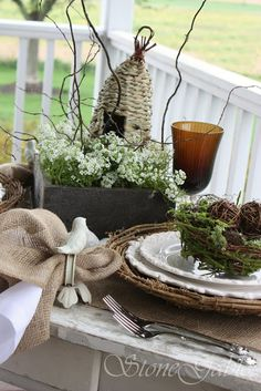 StoneGable: SPRING NESTING TABLESCAPE AND GWAHM Giveaway Winner