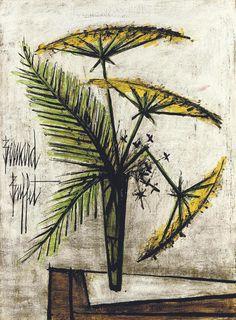 Les ombrelles jaunes, 1989, Bernard Buffet. French (1928 - 1999)