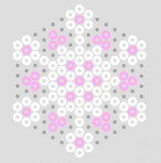 Pastel Hama Bead Snowflake Patterns