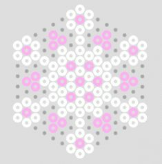 Pastel Hama Bead Snowflake Patterns