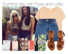 """Summer day with Fizzie and Lottie"" by sahiarat ❤ liked on Polyvore featuring Forever 21, Elizabeth and James, River Island, H&M, NARS Cosmetics, Casetify, Schott Zwiesel and Nails Inc."