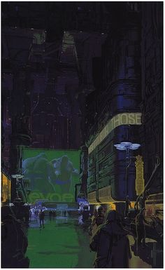 This is another piece from Blade Runner, that I feel really represents the Lower City really well. I used elements of it colour pallet as well as parts of its visuals in my final piece.