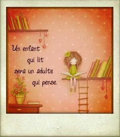 Kids Reading, Reading Nook, Love Reading, Words Quotes, Art Quotes, Nice Quotes, Jolie Phrase, Positive Art, French Quotes