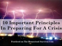 10_Important_Principles_In_Preparing_For_A_Crisis Homesteading - The Homestead Survival .Com