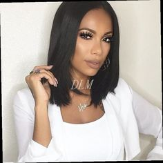 43.00$  Watch here - http://aliam8.worldwells.pw/go.php?t=32746413544 - Natural Straight Hairstyle Synthetic lace front wig bob wig artificial hair lace front wigs For women synthetic wigs