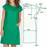 T Shirt Sewing Pattern, Tunic Sewing Patterns, Japanese Sewing Patterns, Girl Dress Patterns, Blouse Patterns, Clothing Patterns, Diy Summer Clothes, Diy Clothes, Sewing Clothes