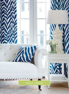 Kendall Sofa from Thibaut Fine Furniture in Cabo Cotton woven fabric in Pearl Blue Rooms, White Rooms, Brown Interior, Upper East Side, Chinoiserie Chic, White Houses, Fine Furniture, White Decor, My Living Room