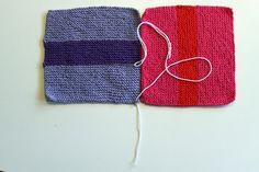 frøkenen & baronen: Sammensyning af strikkede lapper