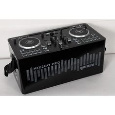 Gemini MIX2GO PRO Portable DJ Mixer with Built-in Speakers and LED Light Show Regular 190839046888