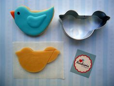 Bird Cookie Cookieria By Margaret, biscoito decorado, bolacha decorada