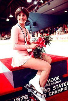 Dorothy Hamill, triumphant at the 1976 U.S. National Figure Skating