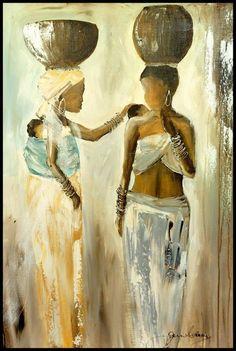 Purchase artwork Zanele's Cousin created by South African Artist Jen Adam African Art Paintings, African Artwork, Watercolor Landscape Paintings, Watercolor Art, Caribbean Art, Colorful Abstract Art, Cool Art Drawings, South African Artists, Creative Artwork