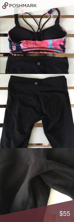 EUC Lululemon Wunder Under Leggings ❃ minimal pilling ❃ 100% authentic  ❃ great used condition  ✓ trades ✓ offers ✓ the price isn't right? ask me about ♏️  If you live for lounging and athleisure, you will love lululemon wunder under leggings. These beauties are in great shape, are full length, and are perfect for everyday wear. Bundle with the free to be bra pictured for a great price! lululemon athletica Pants Leggings