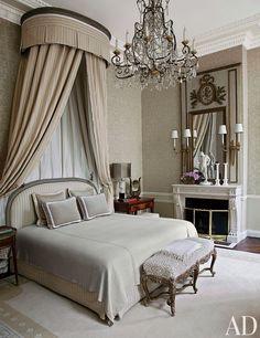 Master Bedroom | Canopy Bed | Jean Louis Deniot | Paris Style | Interior Designer | Home Decor