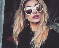 """baldwinupdates: """"Hailey """"love these @krewe sunglasses """" """""""