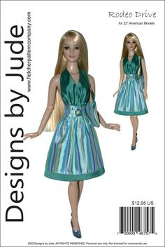 "Reminisce Doll Clothes Sewing Pattern 22/"" American Model Dolls Tonner"