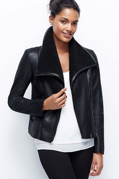 17 Awesome Leather JacketsMeant For The Cold #refinery29  http://www.refinery29.com/warm-leather-jackets#slide-16