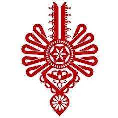 10-066 naklejka ścienna parzenica :: naklejkidekoracyjne.net Folk Embroidery, Machine Embroidery Designs, Madonna, Totem Tattoo, Polish Folk Art, Handmade Wedding, Wedding Guest Book, Holiday Cards, Tatting