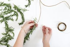 DIY Rosemary Table Garland @themerrythought