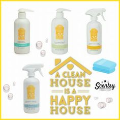 Scentsy is not just about waxes and warmers. Have you tried our cleaning products? #Scentsy #MakesGoodScents #cleanhouse #scentyourhome #homesweethome