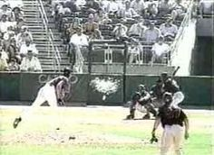 Randy Johnson hit a bird with a 100 mph fastball during a spring training game in 2001