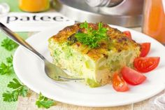 Омлет с брокколи, приготовленный в духовке