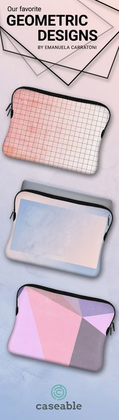 Geometric Designs by Emanuela Carratoni | Macbook Pro sleeves | available for all phone cases, laptop sleeves, tablet and eReader cover