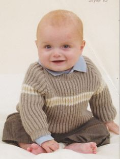 Ravelry: Vee Neck Fisherman's Rib Sweater pattern by Patons Australia