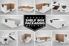 Retail Shelf Box Packaging MockUps by INCDesign on @creativemarket