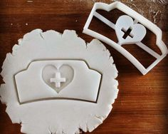 ♢ Unique in-house design ♢  3D printed cutter suitable for cookie dough, fondant, clay, cheese, biscuit dough, etc. SIZE: Nurse Hat: Approximately 8.9cm