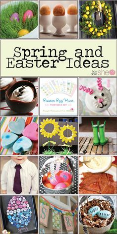 Over 50 Last Minute Awesome Spring & Easter Ideas! Includes: Decor, Egg Dying Techniques, Cute Sweets to Eat, Printables, Crafts, DIY Projects, Countdowns, Awesome {Secret} Ham Sauce, and Tons More!