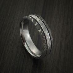 Damascus Steel Ring Wedding Band Genuine Craftsmanship