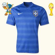 Nouveaux Maillot Brésil Coupe Du Monde 2014 Extérieur personnaliser,grossiste maillot de foot,lly.525.com