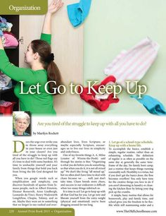 Let Go to Keep Up – Marilyn Rockett - The Old Schoolhouse Magazine - 2015 Annual - Page 220-221