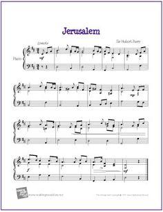 Jerusalem (English Hymn) | Free Sheet Music for Piano