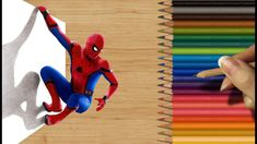 3D Colored Pencil Drawing: Spiderman: Homecoming - Speed Draw | Jasmina ...