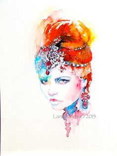 Original Fashion Watercolor Painting - Watercolor Fashion illustration
