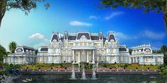 Luxury Homes Hausbesitzer Luxury Villa, Luxury Life, Luxury Homes, Big Mansions, Mansions Homes, Mansion Designs, Real Estate Buyers, Dream Mansion, Modern Mansion