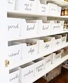 "TIDEE on Instagram: ""Pantry inspo. Get the look using the ever versatile 'Variera' tubs from @ikea_australia and fab labels by @little_label_co #tidee #pantry…"""